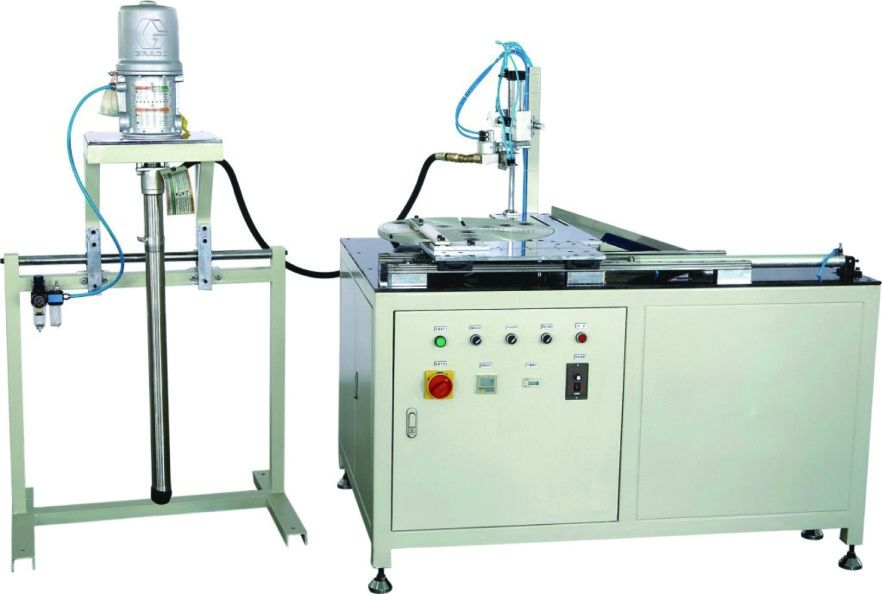 Full Auto Truck / Car Air Filter Making Machine PVC End Cap Gluing Machine