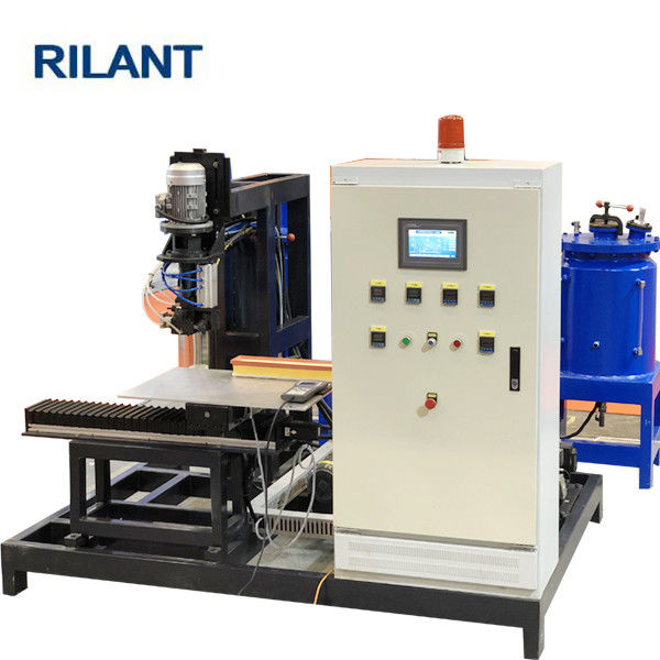 Gluing PU Filter Making Machine Isocyanate / Polyol 2200× 1300 × 1800mm Size
