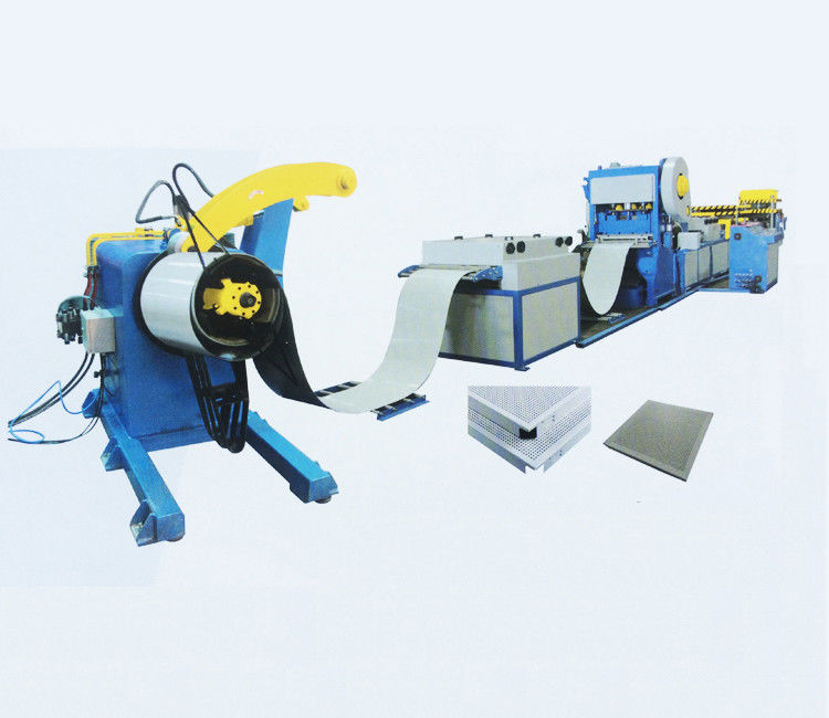 Welded Cold Roll Forming Machine Stable Structure Aluminum Celling Production Line